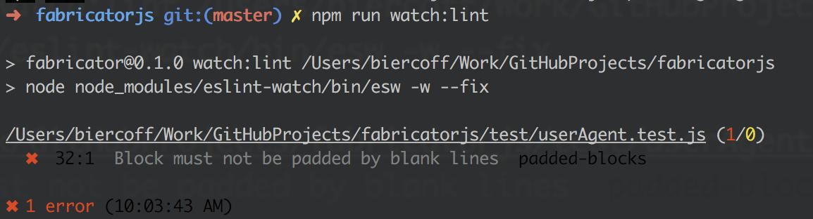 Javascript linting in