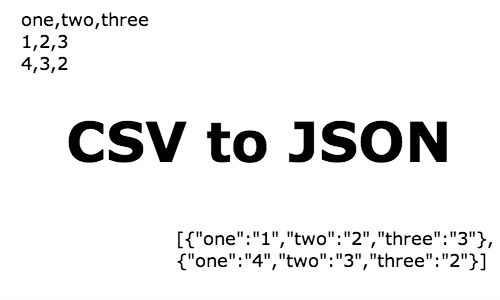 Handy converting of data in CSV into JSON